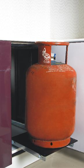 Cylinder Pull Out Modern Kitchen Modular Kitchen