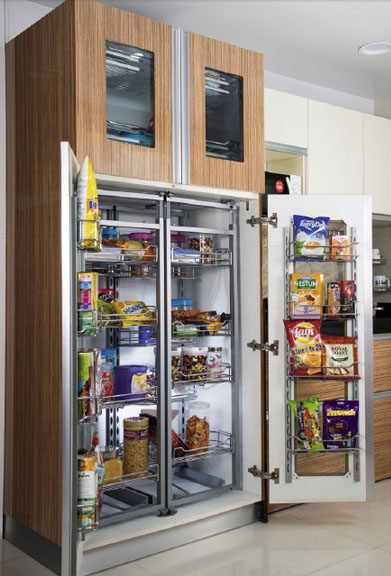 Double Pantry Unit Modern Kitchen Modular Kitchen