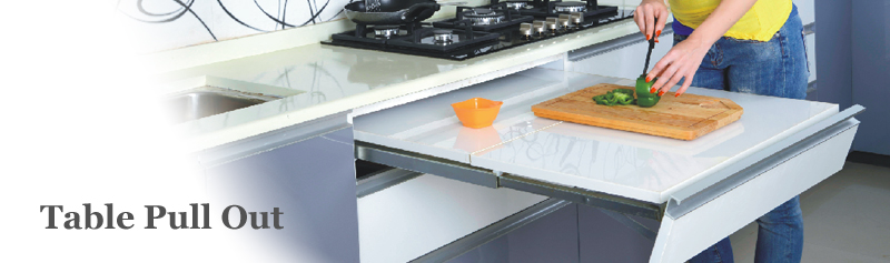 Beau Table Pull Out   Modern Kitchen, Modular Kitchen   Signet Kitchen, Nashik